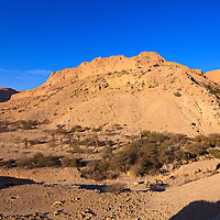 The entrance to the Nahal David canyon in the Ein Gedi nature preserve.