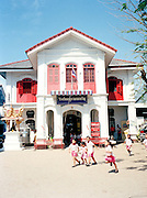 Sino-Portoguese building houses a grade school in Old Phuket Town