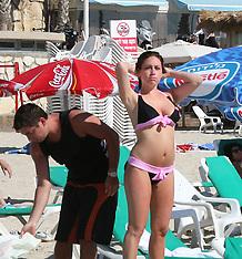 Sun Bathing in Tel Aviv