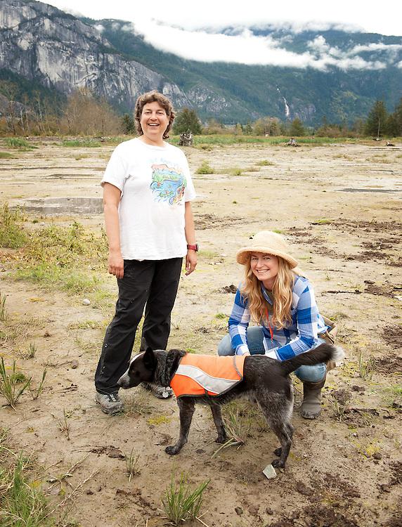 Squamish River Watershed Society executive director Edith Tobe and Rhonda O'Grady at the annual Squamish River Watershed Society Rivers Day event.