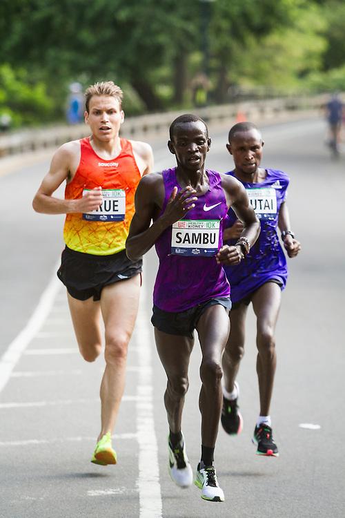 UAE Healthy Kidney 10K, Stephen Sambu leads Ben True, Geoffrey Mutai late in race