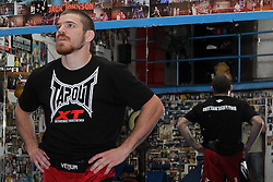 May 3, 2012; New York, NY; USA;  Jim Miller during the media workouts for UFC on FOX 3 at the Church Street Boxing Gym in New York, New York.