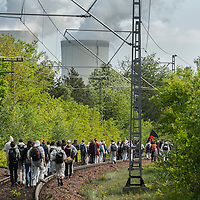 14 Ende Gelände Blockade Bahnschienen nach Schwarze Pumpe