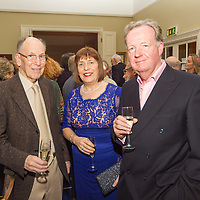 (l to r) Michael Halpenny, Susan Halpenny, and Niall Coleman at the Classic Dragon Reunion in the Royal St George Yacht Club (Dún Laoghaire) where a large number of current and classic Dragon sailors gathered to celebrate the long (and continued) success of the class.