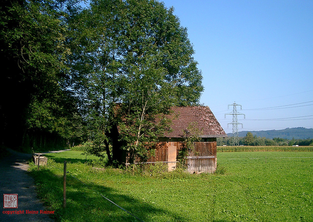 Barn beside meadows, Austria