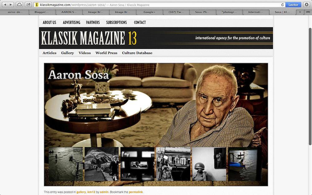 Publicaci&oacute;n en KLASSIK MAGAZINE 13<br /> <br /> Photography by Aaron Sosa