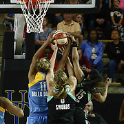 Chicago Sky Forward ELENA DELLE DONNE (11) attempts to grab a rebound in the third period of a WNBA preseason basketball game between the Chicago Sky and the New York Liberty Sunday, May. 01, 2016 at The Bob Carpenter Sports Convocation Center in Newark, DEL