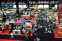1997:  Busy Speed Skate Booth inside a roller hockey booth at the NSGA trade show in Chicago, IL.