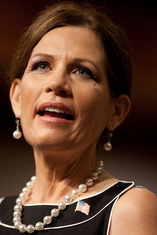 Republican presidential hopeful Michele Bachmann campaigns at New Life church on Sunday, July 24, 2011 in Marion, IA.