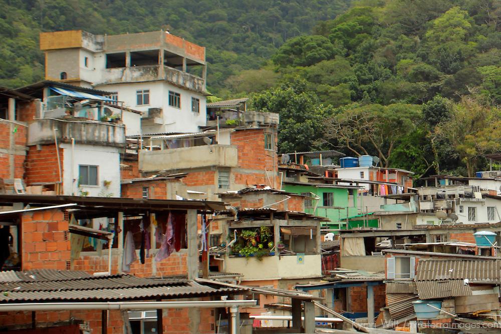 South America, Brazil. Rio de Janiero. Favela of Vila Canoas.