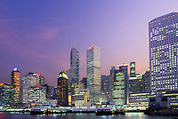 Hong Kong skyline and Kowloon bay, Kowloon, Hong Kong, China.
