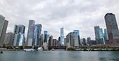 Chicago, Illinois downtown riverfront