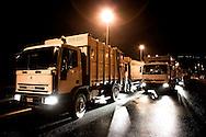 BOSCOREALE/TERZIGNO. AUTOCOMPATTATORI DI RIFIUTI IN CODA AL CASELLO AUTOSTRADALE DI PALMA CAMPANIA;