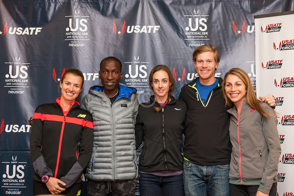USATF Road Championship, press conference, American elite athletes Kim Conley, Sam Chelanga, Molly Huddle, Tyler Pennel, Sara Hall