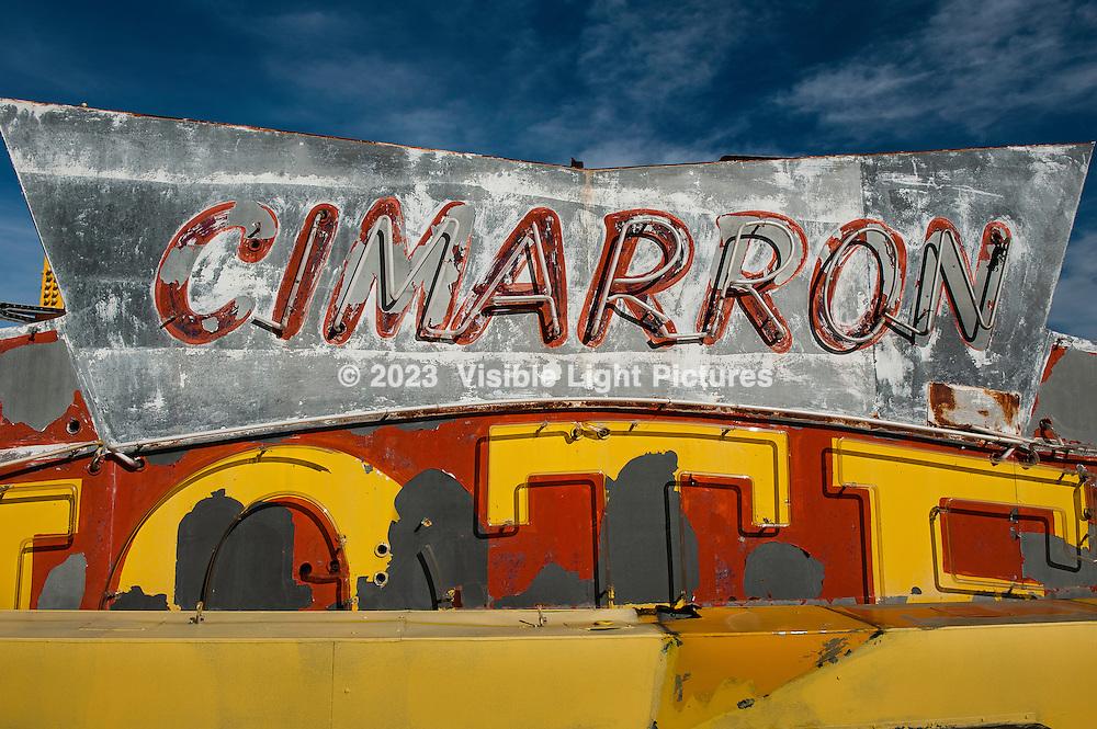 Cimarron Hotel Neon Sign at the Neon Boneyard, Las Vegas, NV