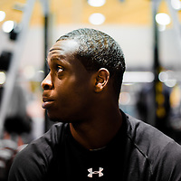 2/18/13 2:19:18 PM -- Bradenton, FL, U.S.A. -- NFL prospect and former West Virginia quarterback Geno Smith talks with USA Today at IMG Academy in Bradenton, Fla., in preparation for this year's NFL Combine.  -- ...Photo by Chip J Litherland, Freelance..Photo by Chip J Litherland, Freelance.