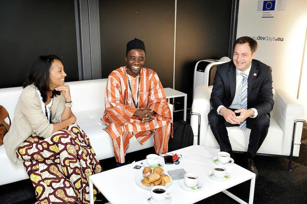 20150604- Brussels - Belgium - 04 June2015 - European Development Days - EDD  - Nesmy Manigat Haiti  and Alexander De Croo Belgian Minister  © EU/UE