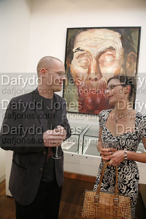 Joshua Hagler and Laura Hagler, Private view of Your Gallery @the Guardian. 60 Farringdon Rd. London. EC1. 23 October 2006. -DO NOT ARCHIVE-© Copyright Photograph by Dafydd Jones 66 Stockwell Park Rd. London SW9 0DA Tel 020 7733 0108 www.dafjones.com