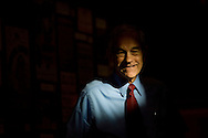 U. S. Republican Presidential candidate Ron Paul (R-TX) waits to speak during a campaign stop October 27, 2007 in Des Moines, Iowa.