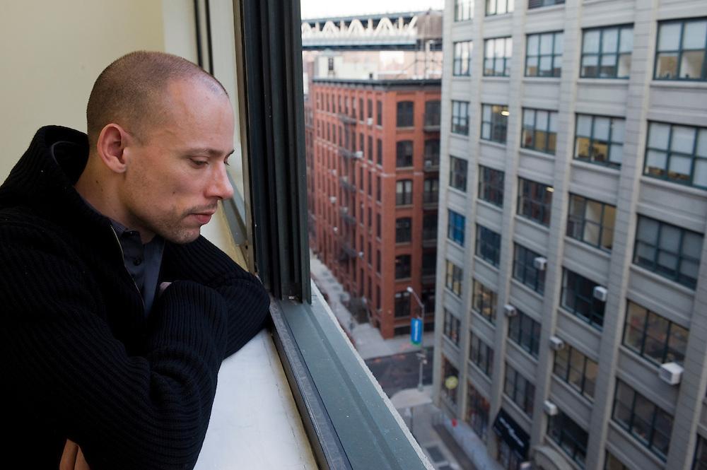 German painter Tim Eitel at his studio in Dumbo - Brooklyn