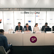 03 June 2015 - Belgium - Brussels - European Development Days - EDD - Climate - Nature-based solutions for climate change mitigation - From deforestation to forest restoration - Cristiana Pasca Palmer ,  Head of Unit , Climate Change , Environment , Natural Resources , Directorate-General for International Development and Cooperation (EuropeAid) - Edmond Moukala N'Gouemo , Chief of Africa Unit , World Heritage Center , UNESCO - Luc Bas , Director , IUCN European Regional Office - Patrick Wylie , Senior Forest Policy Officer , Global Forests and Climate Change Programme , IUCN -  Thomas Hirsch , General Manager Pacific Ring Europe GmbH - Wolfgang Baum , Program Manager 1mTrees , Fairventures Worldwide gGmbH © European Union