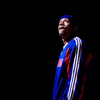 13 January 2009: #1 Allen Iverson of the Detroit Pistons is seen during the players introductions prior to the Charlotte Bobcats 80-78 victory over the Detroit Pistons at The Palace of Auburn Hills, Detroit, Michigan, USA.