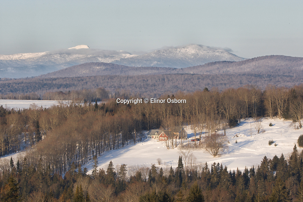 Elinor's Hill ski trails and Mt Mansfield