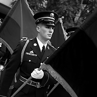 Member of Honor Guard carrying one of the liberating flags at Never Again, a US Holocaust Memorial Museum tribute and educational event. Please visit USHMM for images and to consider a donation to this federal museum: http://neveragain.ushmm.org/