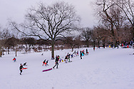 Winter, Branch Brook Park is a county park of Essex County, Newark, New Jersey designed by Frederick Law Olmsted