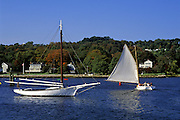 Image of sailboats at Mystic Seaport, Connecticut, American Northeast
