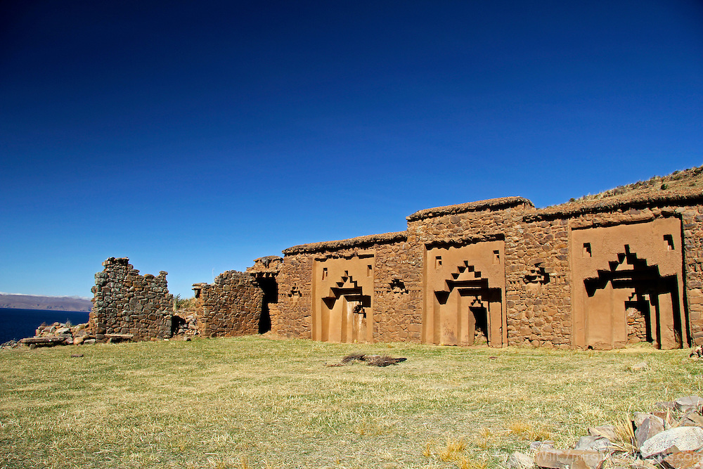 South America, Bolivia, Moon Island. Virgins of the Sun Temple on Isla de la Luna.
