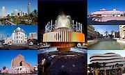 Tel Aviv, Israel, 7 image collage of various landmarks in the city