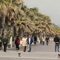 Promenade next to the beach
