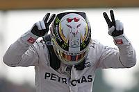 Lewis Hamilton festeggia la pole position  - Mercedes    - Monza 03.09.2016 - Formula 1 Gran Premio d'Italia - Qualifiche