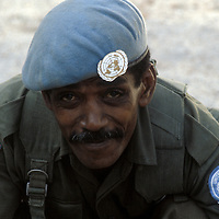 A member of the Fijian contingent of UNIFIL in 1981.