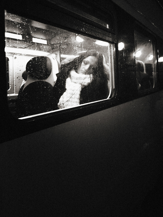 lonely, Europe, Italy, Milan, Milano, Street Photography, girl sleeping on a train
