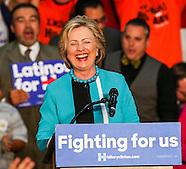 Hillary Clinton campaigns at Los Angeles