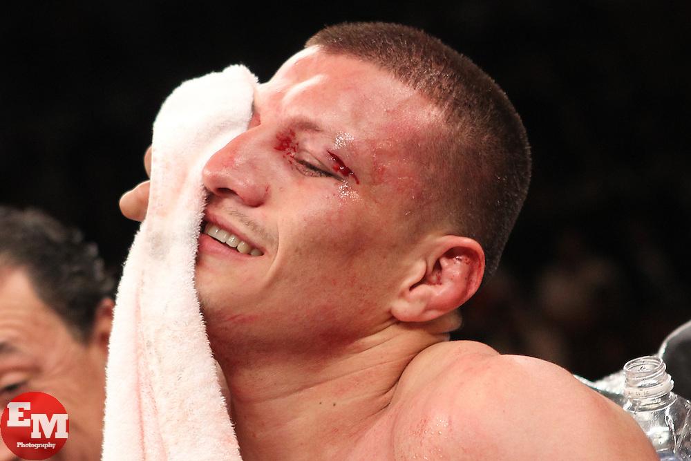 February 19, 2011; Las Vegas, NV; USA; Mike Jones defeats Jesus Soto-Karass via unanimous decision on HBO's Boxing After Dark.  Photo Ed Mulholland/HBO NO SALES