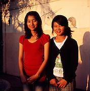 """Akha girls Pratana (17) (left) and Aranya (17) (right) have both been living at the premises of the NGO """"Children of The Golden Triangle"""" for about 9 years. They both want to become teachers so that they can go back to their villages and teach their people."""