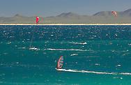 Kite Surfing at Ventana Bay Resort, El Sargento, Sea of Cortez, Baja California Sur, Mexico