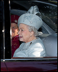 JAN 27 2013 The Queen at Church at Sandringham