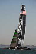 Oracle Team USA testing their AC72 in San Francisco. 1/10/2012