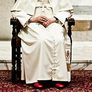 Pope Benedict XVI  visits the Pontifical Roman Major Seminary at San Giovanni in Laterano Basilica in Rome