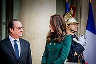 17-3-107 PARIS - Duke of Cambridge Prince William and Duchess of Cambridge Princess Kate visit France President Hollande at the Elys&eacute;e Palace in Paris.  Two day visit of Prince William and Princess Kate to France.  COPYRIGHT ROBIN UTRECHT<br /> <br /> 17-3-107 PARIJS - hertog van Cambridge Prins William en Hertogin van Cambridge Prinses Kate bezoeken Frankrijk President Hollande bij het Elys&eacute;e-paleis in Parijs. Tweedaagse bezoek van prins William en prinses Kate naar Frankrijk. COPYRIGHT ROBIN UTRECHT