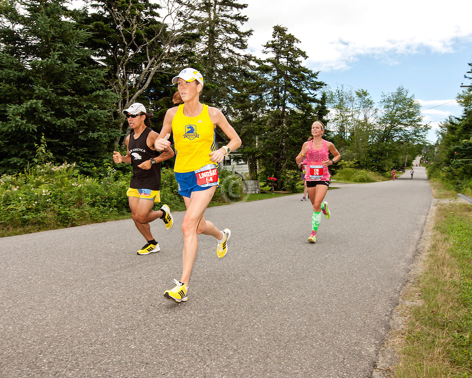 Great Cranberry Island Ultra 50K road race: Lindsay on way to victory