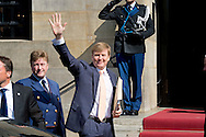 AMSTERDAM - Arrival of King Willem alexander Celebration party for King Willem alexander at the Dam Palace in Amsterdam COPYRIGHT ROBIN UTRECHT