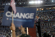 DENVER, CO - August 28, 2008:  Democratic Presidential nominee Barack Obama at the 2008 Democratic National Convention delivering his acceptance speech on the final night the 2008 Democratic National Convention at Invesco Field in Denver, Colorado.