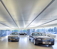 Ceilings Plus Illusions® with Blanco Mat™ finish emphasizes the luster of these fine Rolls Royce and Bentley motorcars.