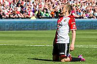ROTTERDAM - Feyenoord - SC Heerenveen , Stadiond de Kuip , Voetbal , Eredivisie Play-offs Europees voetbal, seizoen 2014/2105 , 24-05-2015 , Feyenoord speler Jens Toornstra baalt van gemiste kans