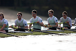 Cambridge University racing Molesey Boat Club as part of their Boat Race 2010 preparations.